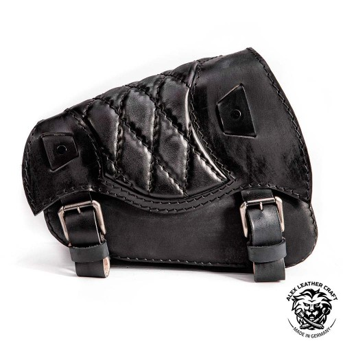 Motorcycle Saddlebag Sportster 1988-2020 Vintage Black Diamond
