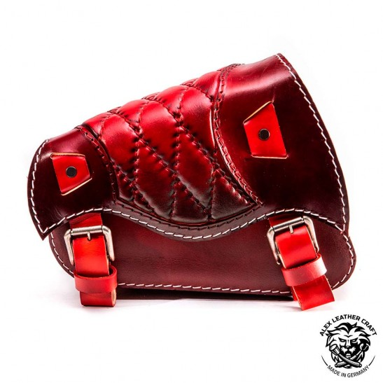 Motorcycle Saddlebag Sportster 1988-2020 Red Diamond