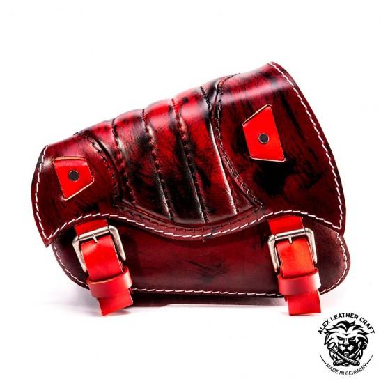 Sacoche de moto Sportster 1988-2020 Rouge et noir V2
