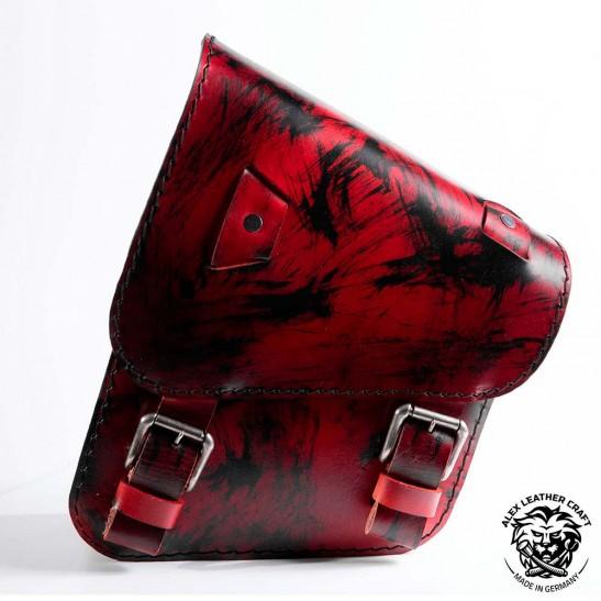 Motorcycle Saddlebag for Harley Davidson Softail Red and Black