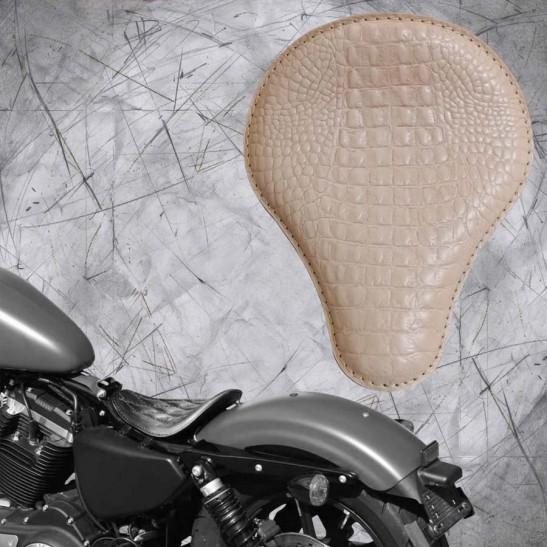 Solo Sitz Harley Davidson Sportster 04-20 Kroko Natur