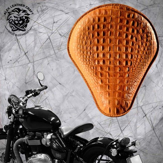 Triumph Bonneville Bobber Selle de 2016 Croco nature