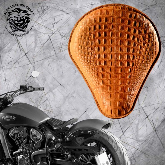 Selle bobber solo pour Indian Scout ab 2017 Croco nature