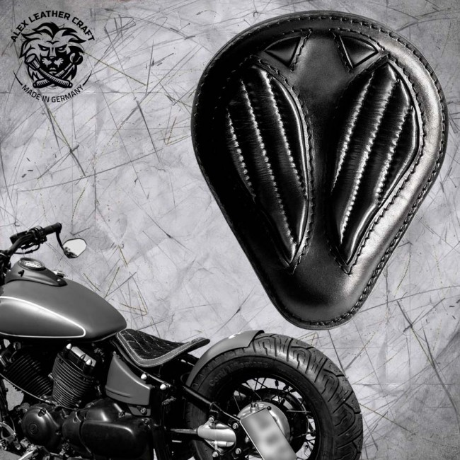 Solo Selle Short Noir V2 Yamaha Drag Star 650 et Montage Kit