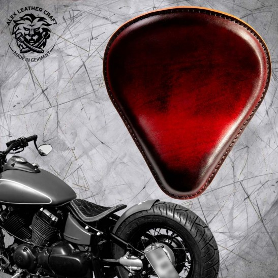 Solo Seat Vintage Red Yamaha V Star 650 (Drag Star) and Montage Kit