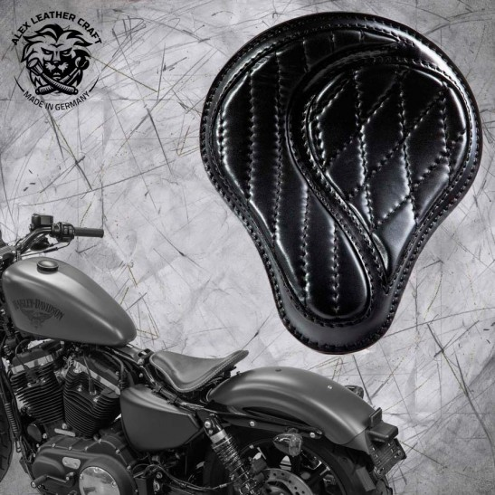 "Solo Seat + Montage Kit Harley Davidson Sportster 04-20 ""No-compromise"" Black"