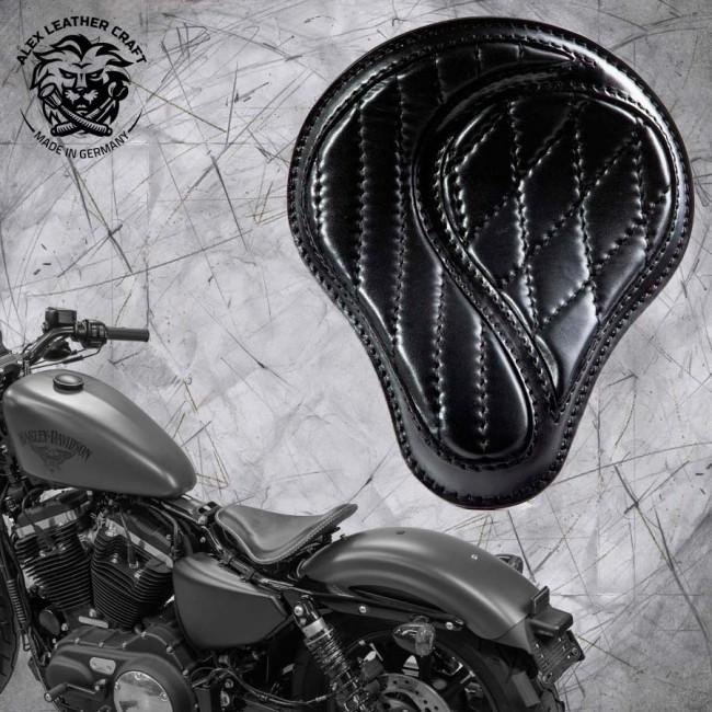 "Solo Sitz + Montage Kit Harley Davidson Sportster 04-20 ""No-compromise"" Schwarz"