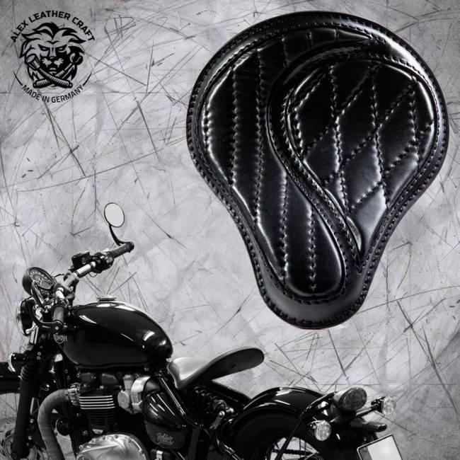 """Triumph Bonneville Bobber Selle de 2016 """"Standard"""" No-compromise Noir"""