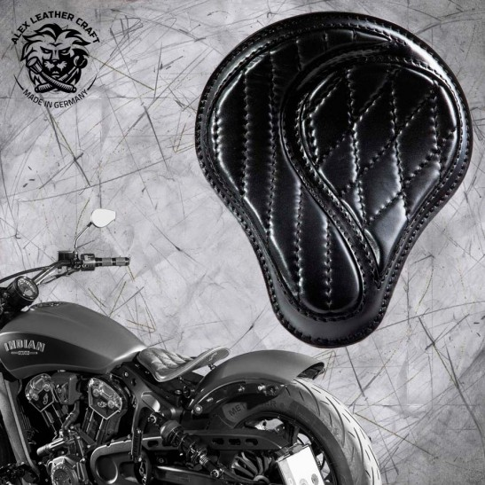 """Bobber Solo Seat for Indian Scout since 2017 """"Standard"""" No-compromise Black"""