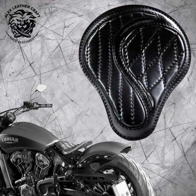 "Bobber Solo Seat for Indian Scout since 2017 ""Standard"" No-compromise Black"