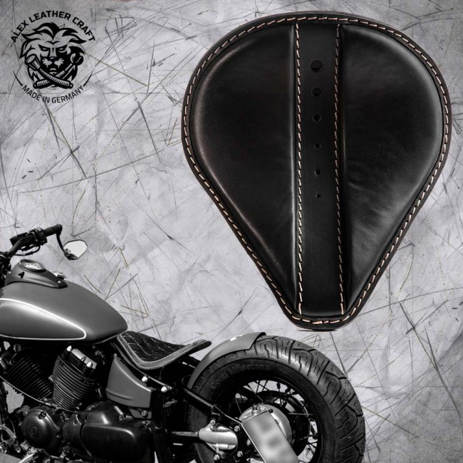 Solo Seat Yamaha Drag Star 650 Moiety Black and Montage Kit