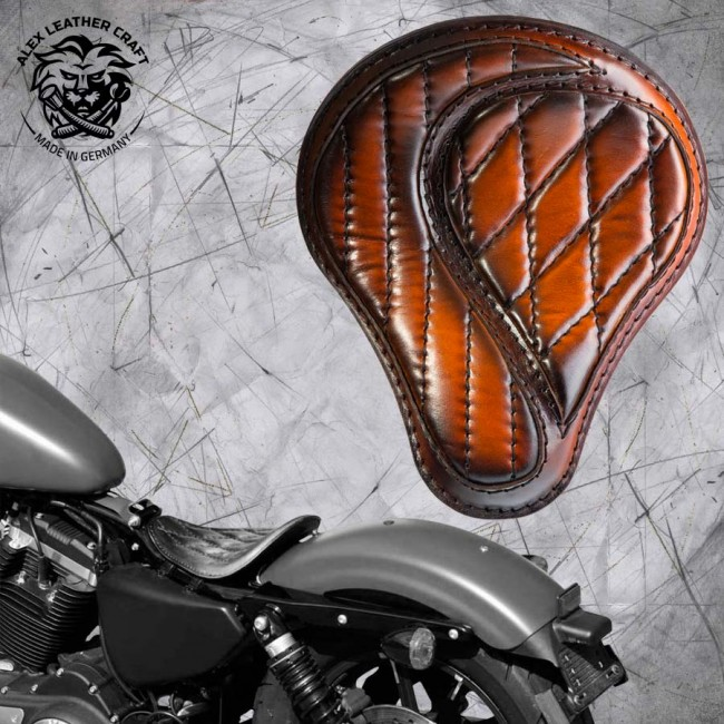 "Solo Seat Harley Davidson Sportster 04-20 ""No-compromise"" Saddle Tan"