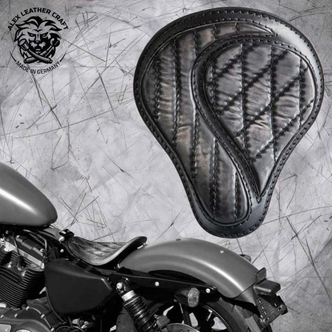 """Solo Sitz Harley Davidson Sportster 04-20 """"No-compromise"""" Vintage Schwarz"""