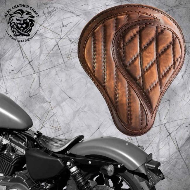 """Solo Selle Harley Davidson Sportster 04-20 """"No-compromise"""" Vintage Marron"""
