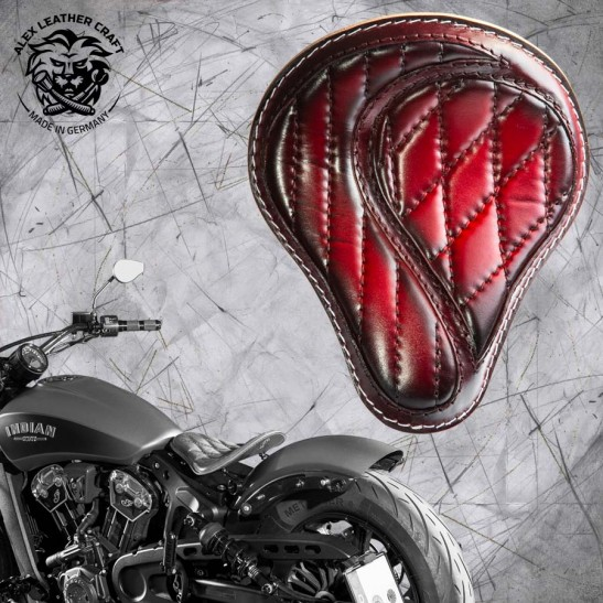 "Selle bobber solo pour Indian Scout ab 2017 ""Standard"" No-compromise Rouge"