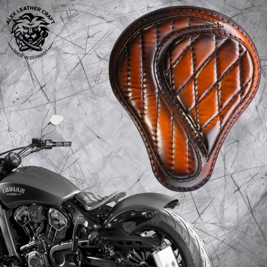 "Bobber Solo Seat for Indian Scout since 2017 ""Standard"" No-compromise Saddle Tan"