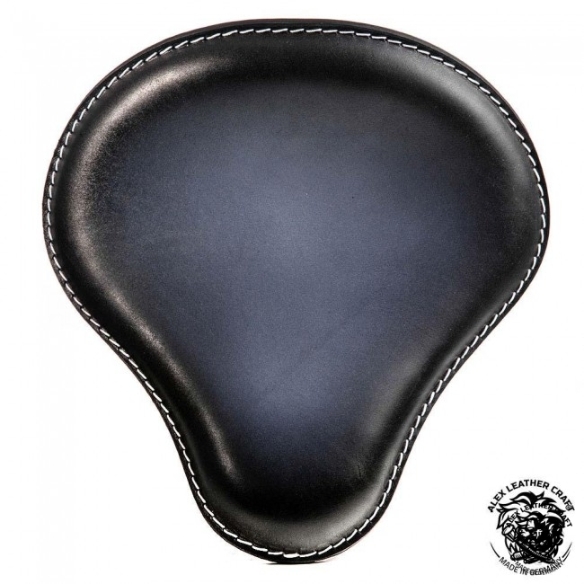 """Universal Bobber Seat """"Black and White"""" XL, model A (Warehouse Sale)"""