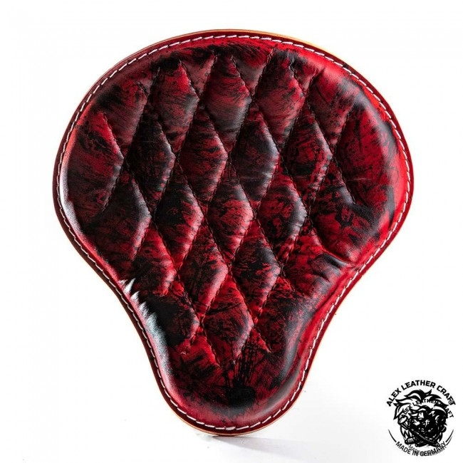 Universal Bobber Seat Red and Black Diamond M, model A (Warehouse Sale)