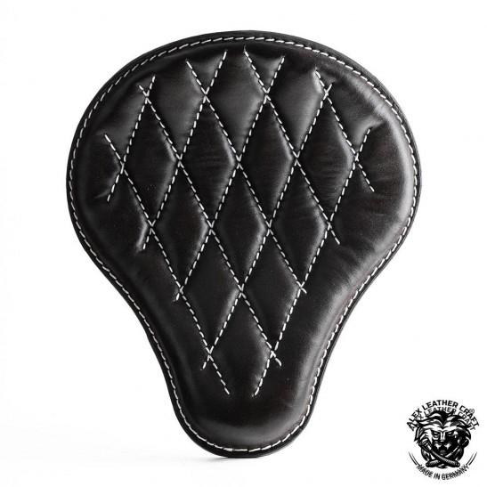 "Universal Bobber Seat ""Black and White"" Diamond S, model B (Warehouse Sale)"