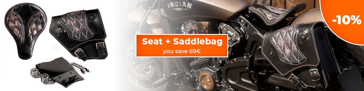Seat + Saddlebag for Indian Scout